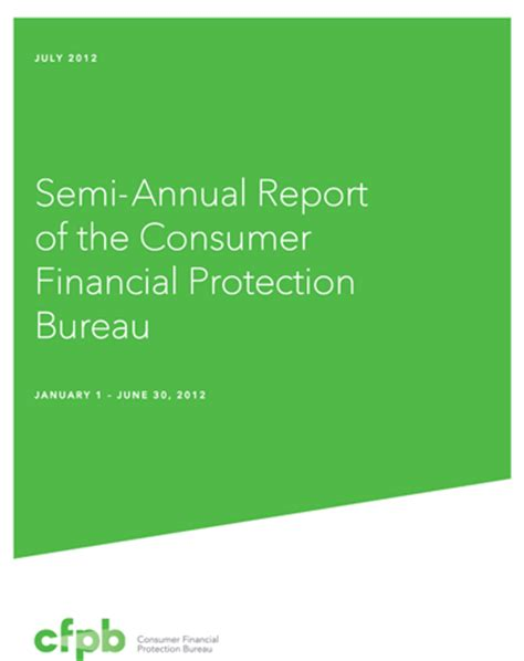 protection bureau semi annual report to the president and congress gt reports
