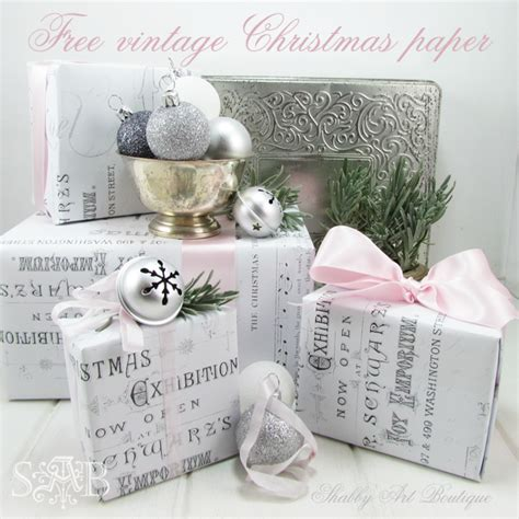 shabby chic christmas wrapping paper make your own christmas wrapping paper shabby art boutique