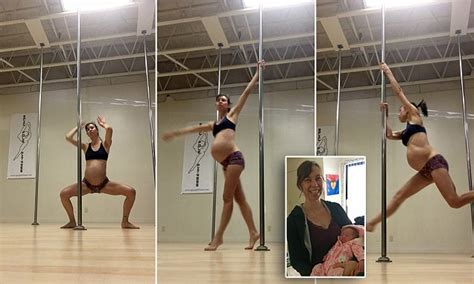 Athletic Mother Reveals She Continued To Pole Dance During