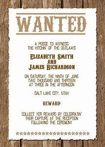 wanted western wedding invitation free template With free printable cowboy wedding invitations