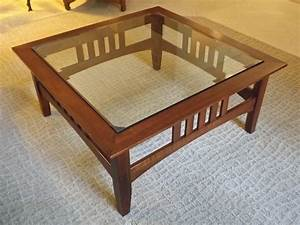craftsman style coffee table beautiful at ethan allen With glass top mission style coffee table