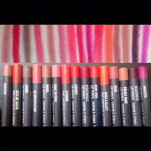 MAC Lip Pencil swatches..... From left to right~ #Dervish ...