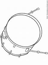Drum Bass Pages Coloring Colouring sketch template