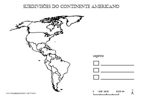 Mapas de Continentes para colorir Continentes Mapa