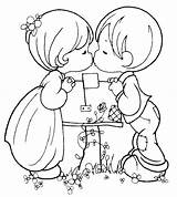 Coloring Couple Pages Cute Popular sketch template