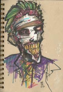 Scary Joker Face Drawings