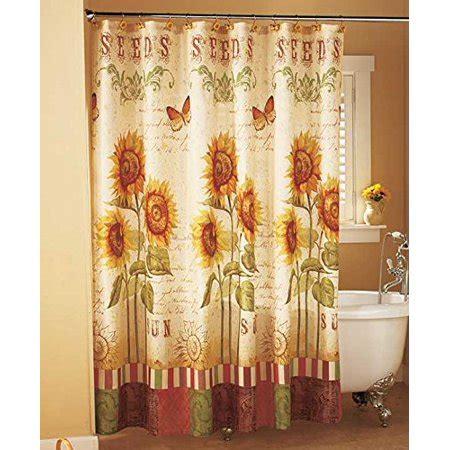 sunflower shower curtain sunflower shower curtain walmart
