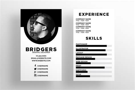 Resume Business Card Format the resume business card template business card templates on creative market