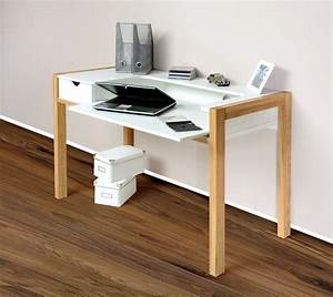 Pc Tisch Holz : 1190 schreibtisch pc tisch arbeitstisch sekret r wei f e eiche massiv holz k che ~ Markanthonyermac.com Haus und Dekorationen