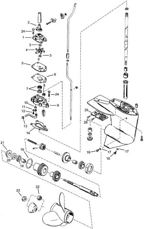 mercury outboard parts drawing      hp