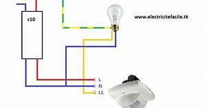 Eclairage Sans Branchement Electrique : sch ma de cablage lectrique d tecteur de pr sence sch mas lectriques ~ Melissatoandfro.com Idées de Décoration