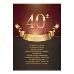 40 hochzeitstag einladungen zazzle de - Einladung 40 Hochzeitstag