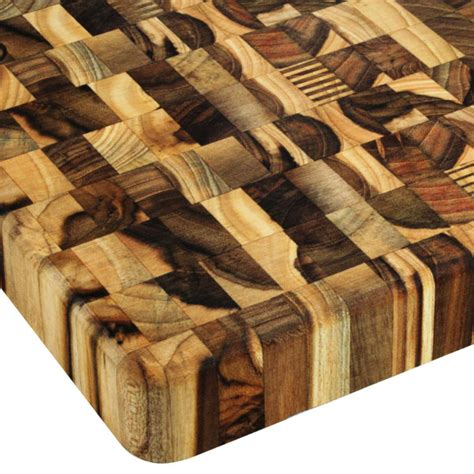 madeira square mario batali teak  grain cutting board  cutlery
