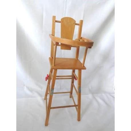 chaise haute poupée bois chaise haute de poupée en bois jouets rétro jeux de