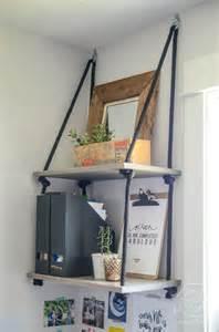 DIY Rope Shelves Hanging