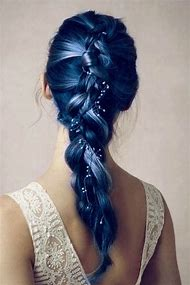 Blue Hair Pony Tails Hairstyles