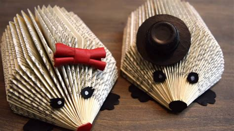 Diy Hedgehog Book Folding