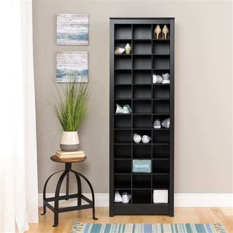 Prepac Space Saving Shoe Storage Cabinet Black