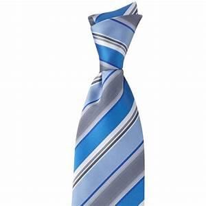 Gris Et Bleu : cravate rayures bleu et gris lavable ~ Dode.kayakingforconservation.com Idées de Décoration