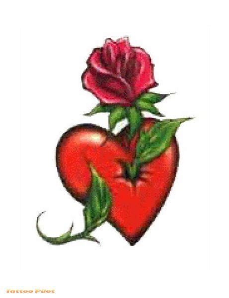 heart  rose tattoos heart tattoo designs tattoo