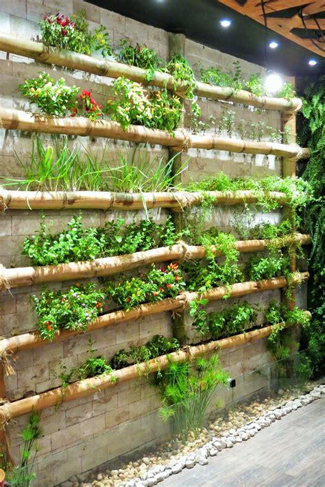 Bamboo Vertical Garden by Da Andrea Rudge Bamboo Craft Vertical Garden Diy
