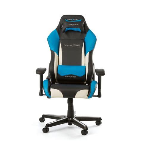 dxracer drifting gaming chair black white blue oh dm61