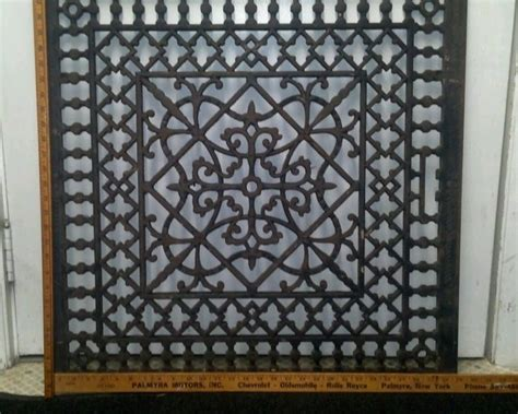 Antique Floor Furnace Grate by Large Ornate Metal Heat Grate Antique Vintage Cast Iron