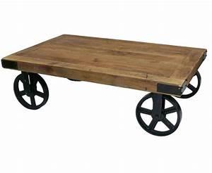 Roue Table Basse : table basse avec roue maison design ~ Edinachiropracticcenter.com Idées de Décoration