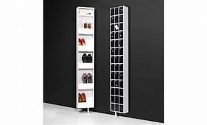 Meuble Chaussure Pas Cher : armoire meuble chaussures tournante polyvalente blanc 10 ~ Carolinahurricanesstore.com Idées de Décoration