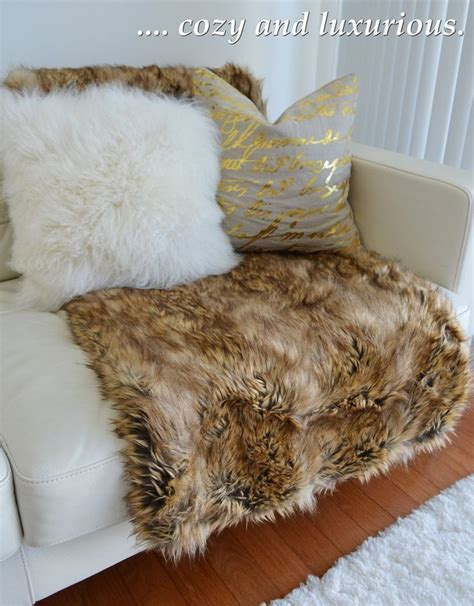 nicole miller faux fur throw style at home pinterest