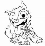 Skylanders Coloring Dog Giants Dessin Trap Colouring Colorare Imprimer Disegni Walmart Kleurplaat Coloriage Cliparts Swap Force Spyro Thumpback Skylander Printable sketch template