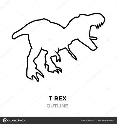 T Rex Umriss Auf Weiem Hintergrund Vektor Illustration