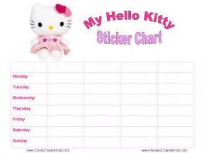 Hello Kitty Reward Sticker Charts Free Printables