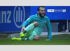 Barcelona Aleix Vidal suffers horrific ankle injury in