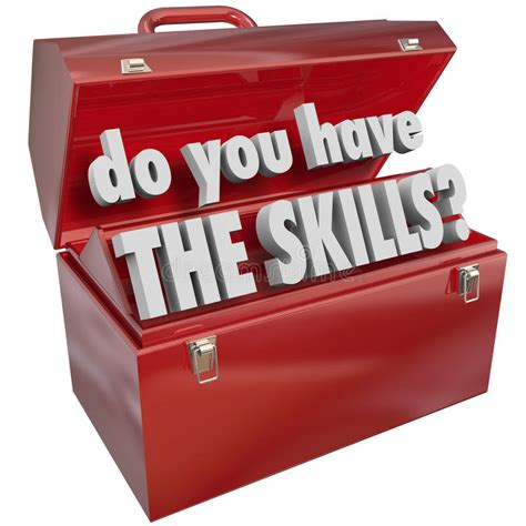 Do You Have The Skills Toolbox Experience Abilities Stock