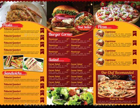 Tri Fold Restaurant Menu Templates Free by 19 Menu Templates Sle Templates