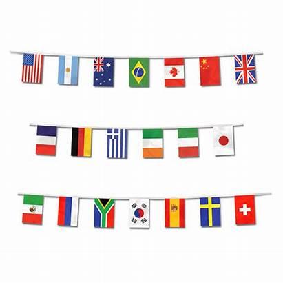 Travel Flags Border Banner International Theme Party