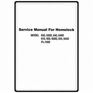 Service Manual  Brother 910   Sewing Parts Online