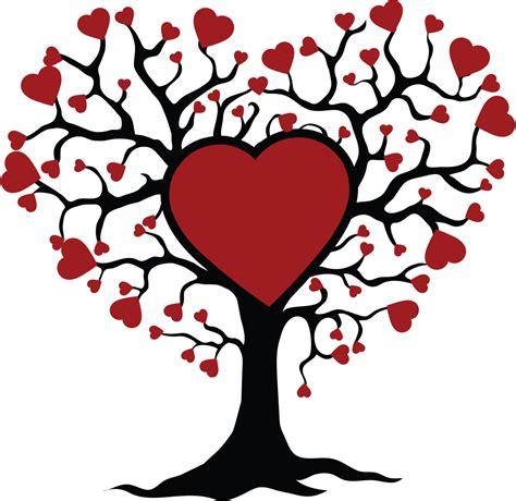 albero clipart albero della vita con disegno di ricamo macchina dei cuori