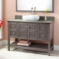 "vanities for bathrooms 48"" Everett Vessel Sink Vanity - Ash Gray - Bathroom ..."