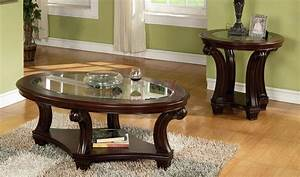 round glass coffee tables modern furniture of america With 3 piece round coffee table set