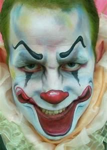 Scary Clown Face Paint | Evil Clown make-up | Halloween ...