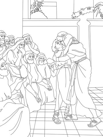 joseph forgives  brothers coloring page