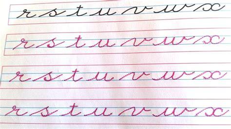 Cursive Writing Small Cursive Letters Cursive Alphabets A To Z Abcdefghijklmnopqrstuvwxyz Abcd