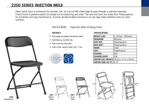 samsonite folding chair dimensions samsonite 2200 series injection mold chair l affordable