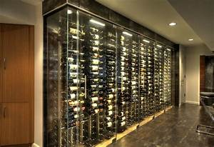 Wine Cellar Storage Room & Glass Bar Countertop