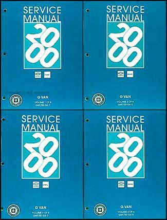 online auto repair manual 1998 gmc savana 3500 transmission control 2000 chevy express gmc savana van shop manual set 1500 2500 3500 repair service ebay