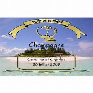 Etiquette Champagne Mariage : etiquette champagne mariage lavande provence ~ Teatrodelosmanantiales.com Idées de Décoration