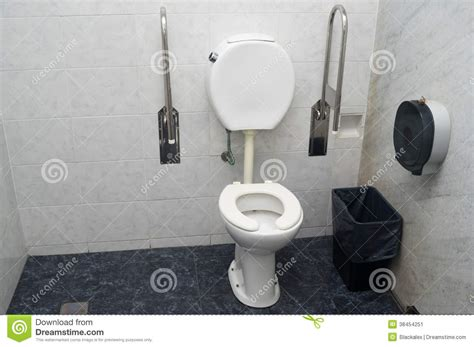 handicap restroom rails bathroom for disabled stock photography