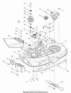 Troy Bilt 13bx609g063  2000  Parts Diagram For Deck